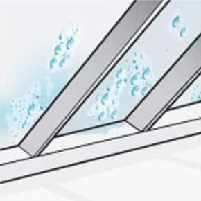 poor ventilation signs - wet underside of roof