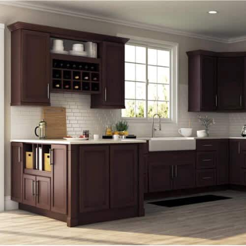 cabinet color - dark