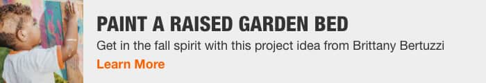 PAINT A RAISED GARDEN BED