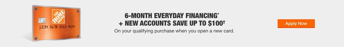 6-Month Everyday Financing + New Accounts Save Up to $100