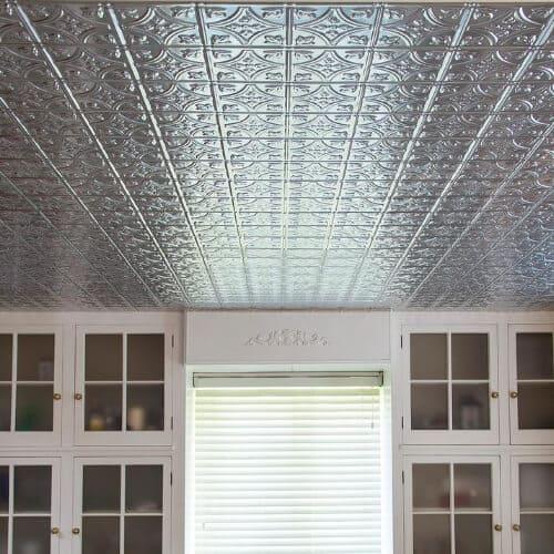 metallic ceiling tiles