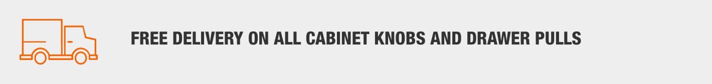 Free Delivery On All Cabinet Knobs & Drawer Pulls