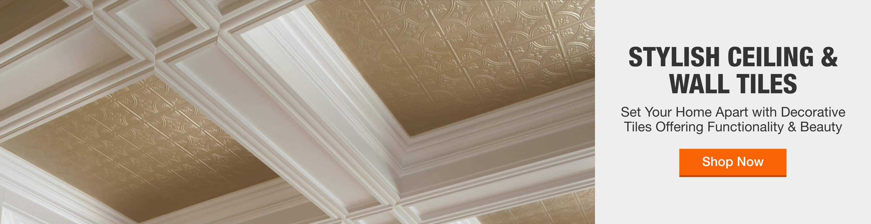 STYLISH CEILING AND WALL TILES - Set your home apart with decorative tiles offering functionality & beauty > Shop Now