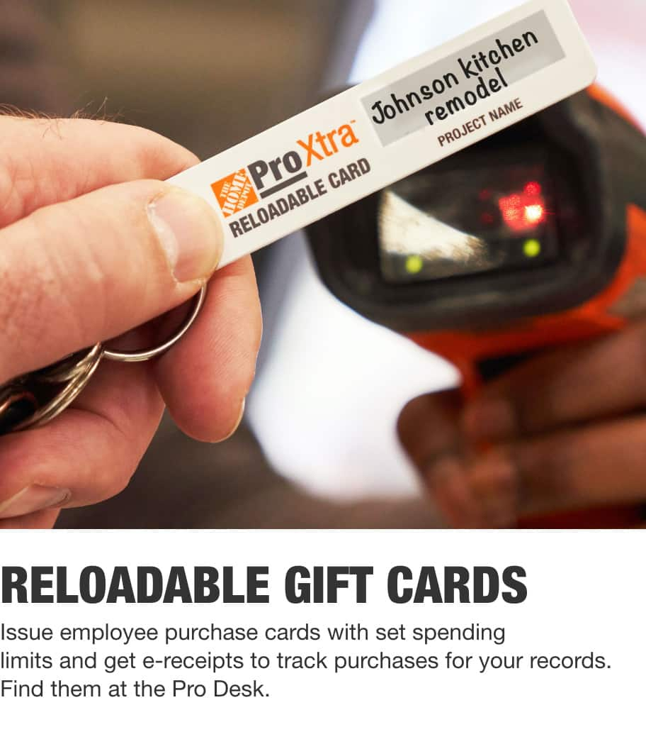 Reloadable gift cards