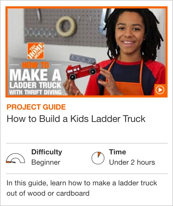 How to Build a Kids Ladder Truck