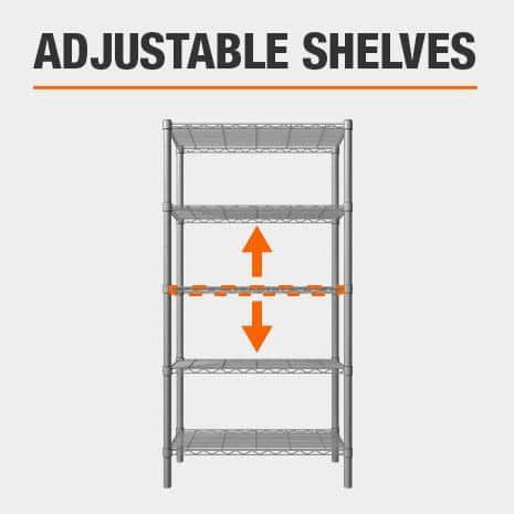 HDX Adjustable Shelves