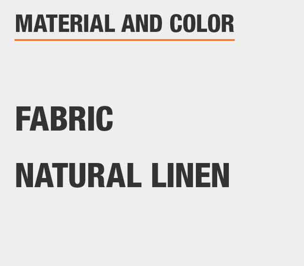 Natural Linen Fabric Arm Chair