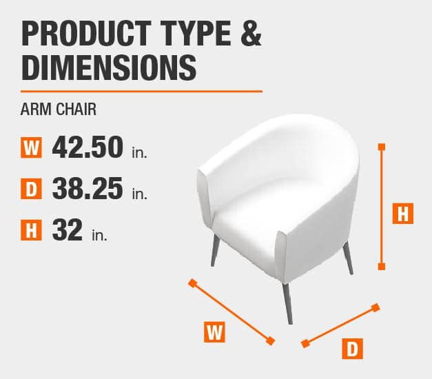 Arm Chair Product Dimensions 42.5 inches wide 32 inches high