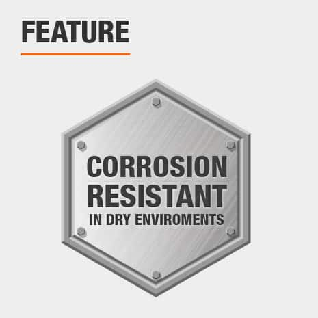 Corrosion resistant wire shelving