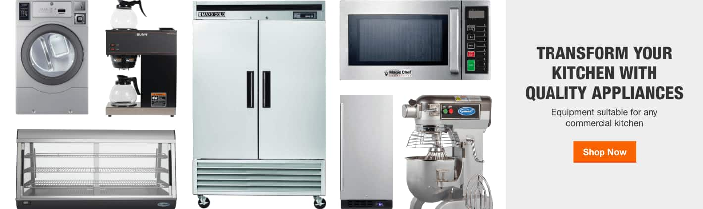 TRANSFORM YOUR KITCHEN WITH QUALITY APPLIANCES. Equipment suitable for any commercial kitchen. Shop Now.