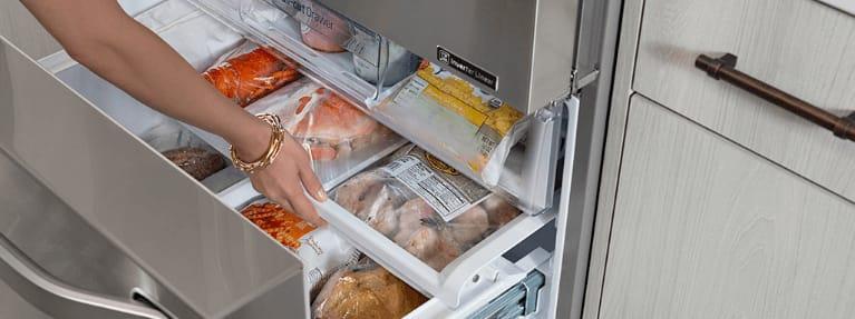 Open Freezer Drawer