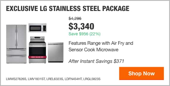 EXCLUSIVE LG Stainless Steel Package