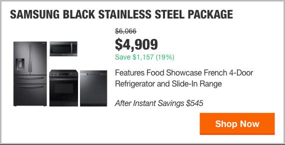 Samsung Black Stainless Steel Package