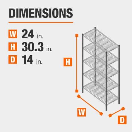 24 in. W x30.3 in. H x14 in. D heavy duty shelves