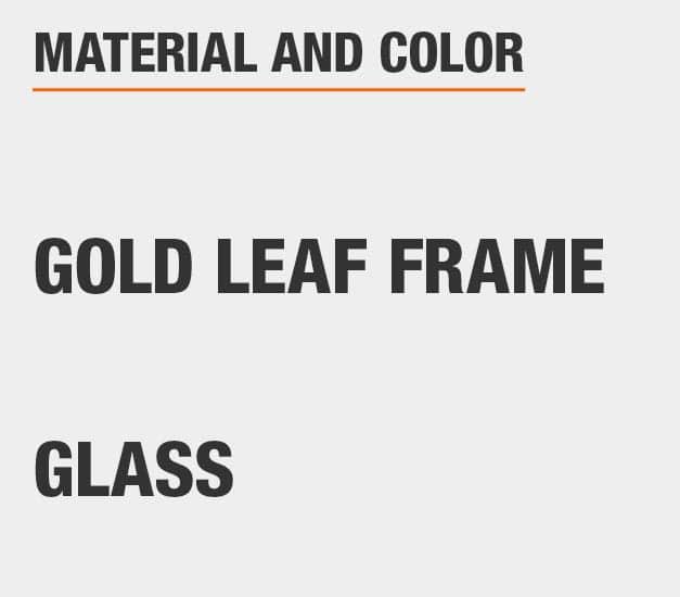 Glass Gold Leaf Frame Bar Cart