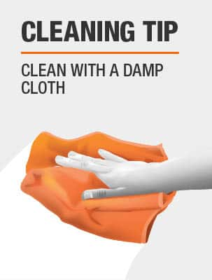 Clean with a damp cloth