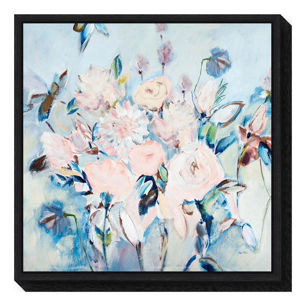 ''Sweetness and Light II v2 (Floral)'' by Joan E. Davis Framed Canvas Wall Art