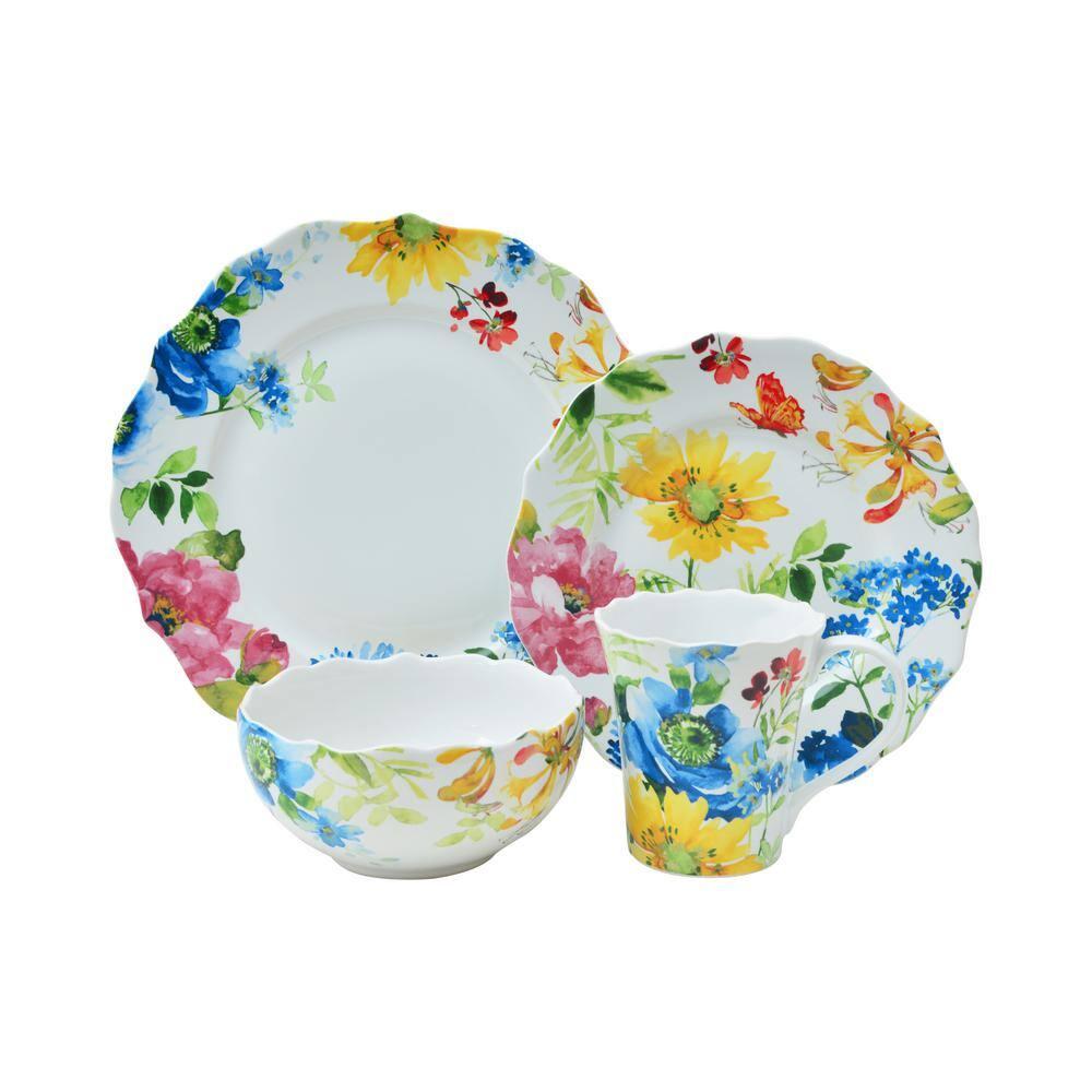 Annalise Spring Mixed 16-Piece Dinnerware Set