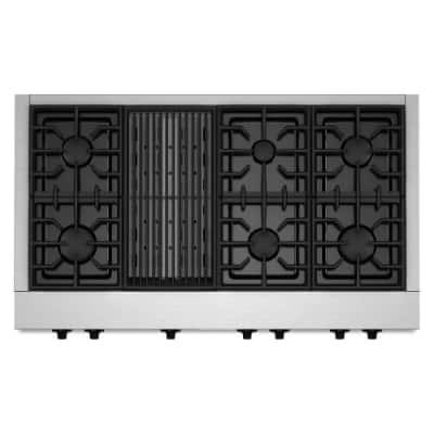 6 burner cooktop