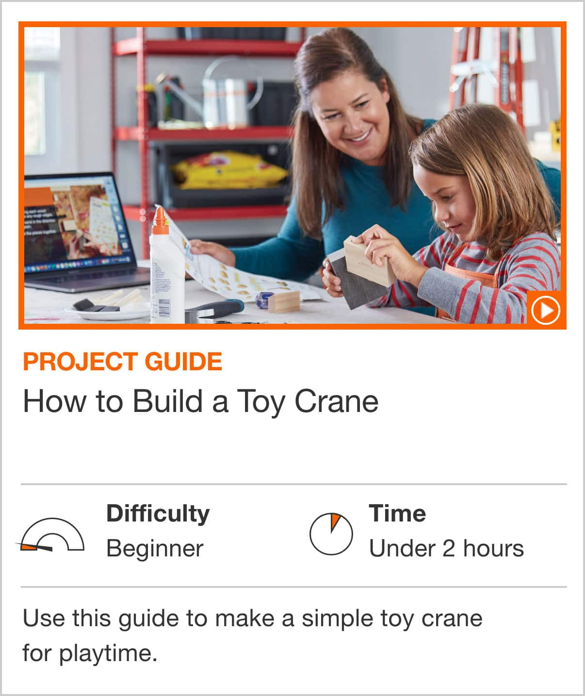 How to Build a Toy Crane