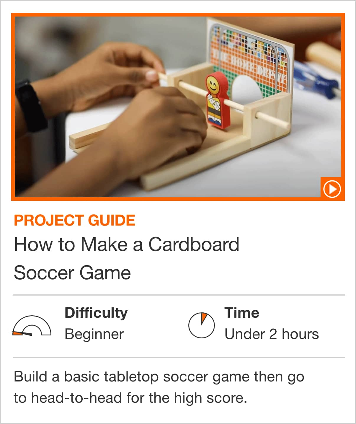 How to Make a Cardboard Soccer Game