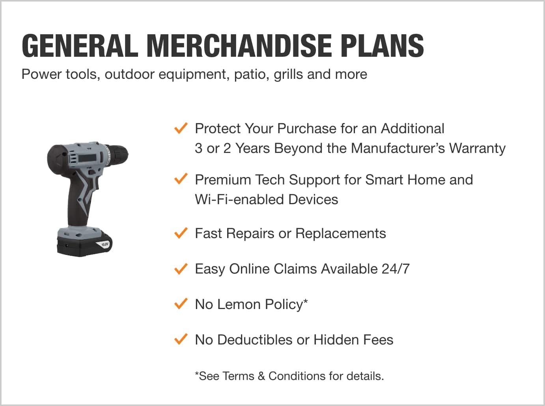 General merchandise plans