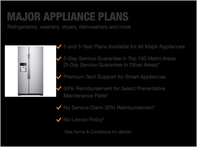 Major appliance plans