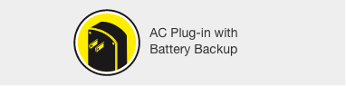 AC Plug-in with Battery Backup