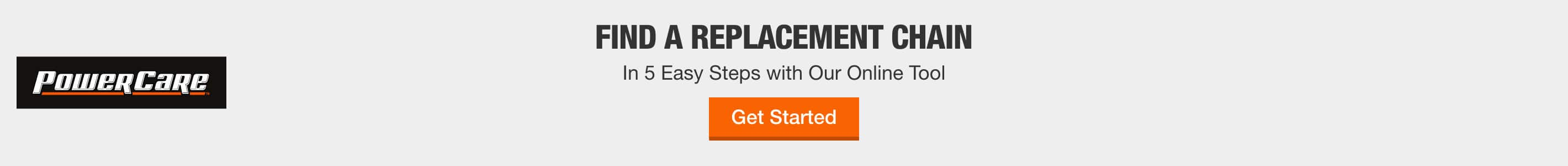 FIND A REPLACEMENT CHAIN In 5 Easy Steps with Our Online Tool Get Started
