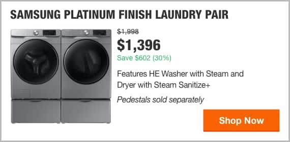 Samsung Platinum Finish Laundry Pair