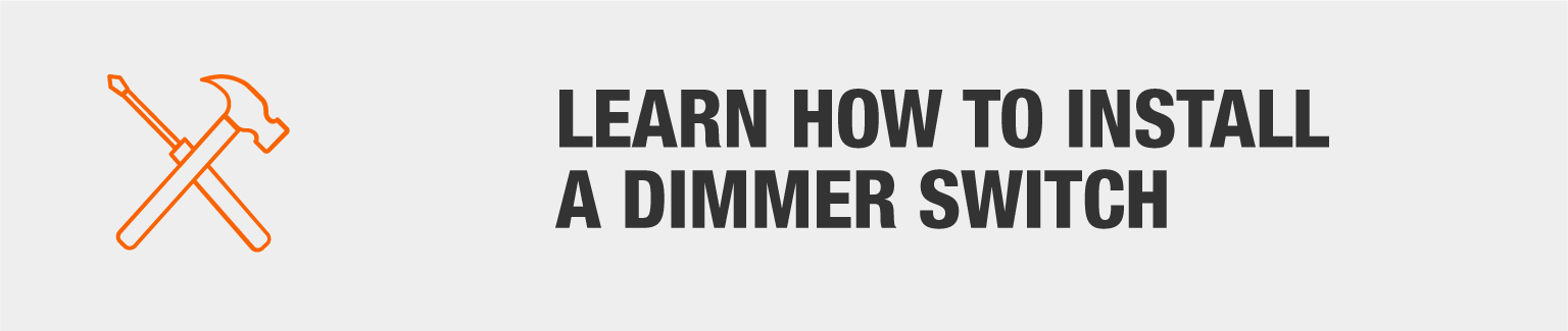Learn how to install a dimmer switch