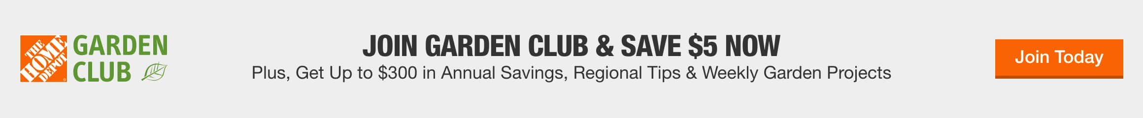 Join Garden Club & save $5 now