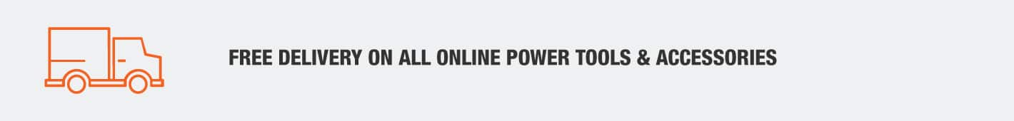 Free delivery on all online power tools & accessories