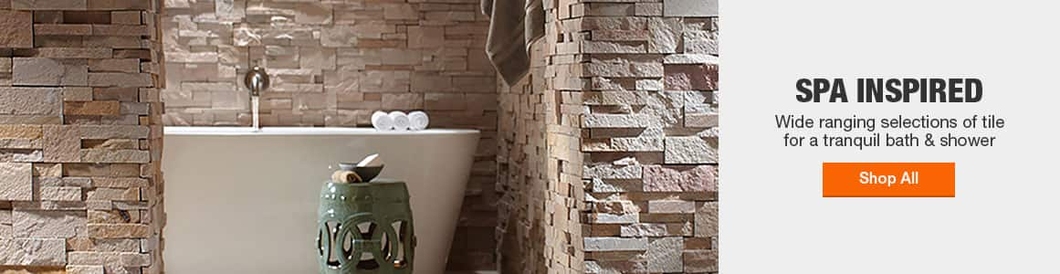 Spa inspired wall tile for a tranquil bath & shower