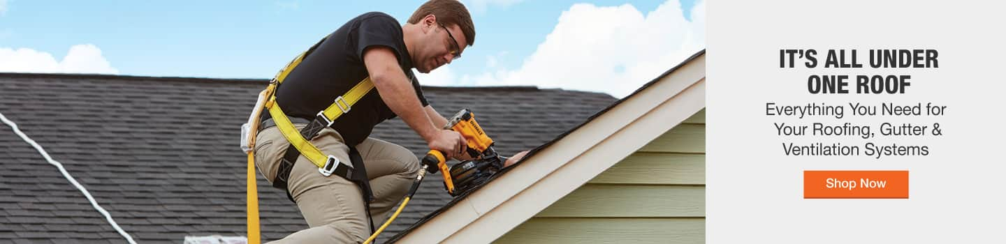 It's all under one roof. Everything you need for your roofing, gutter & ventilation systems