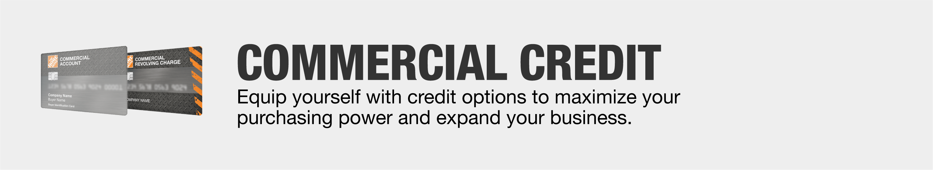 Commercial credit options to maximize your purchasing power