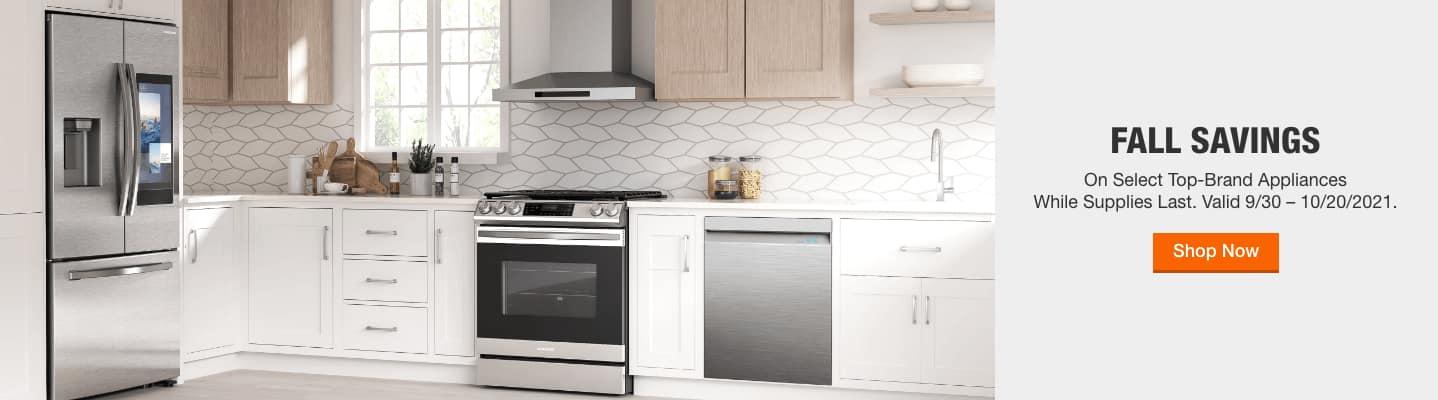 Fall Savings on select Top-Brand Appliances