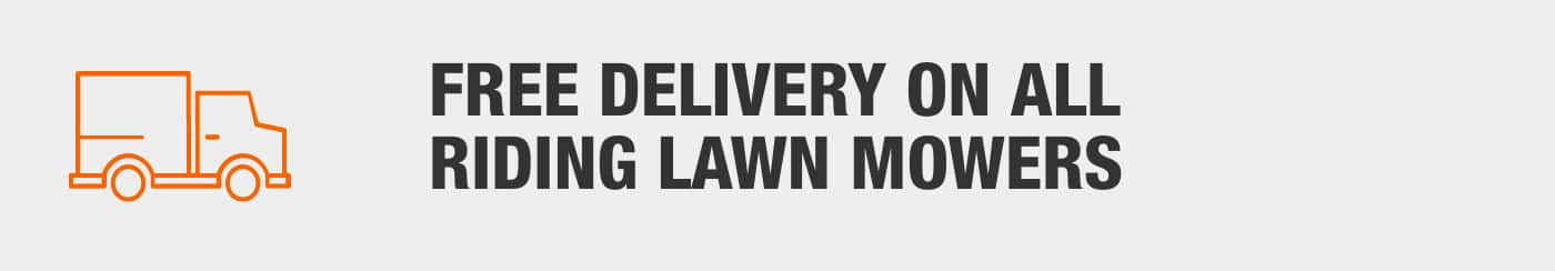 Free Delivery on All Riding Lawn Mowers