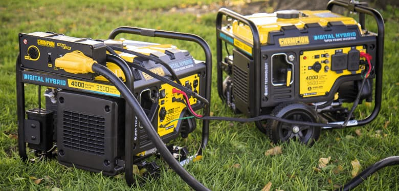 Champion digital hybrid generators.