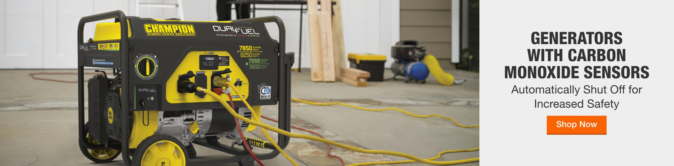 Generators with Carbon Monoxide Sensors Automatically Shut Off for Increased Safety Shop Now