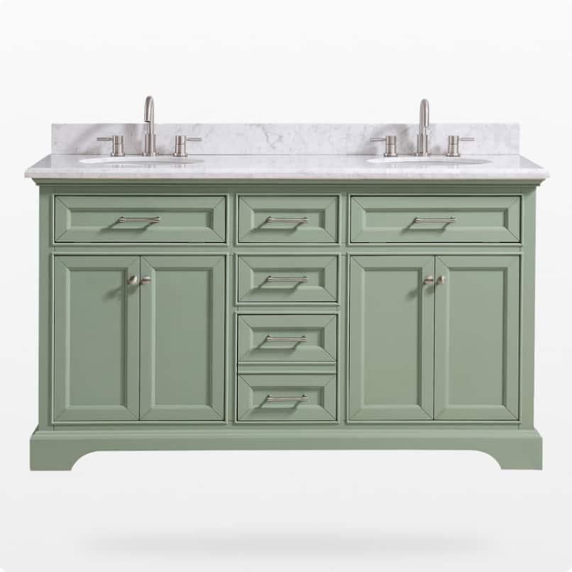 Green vanities