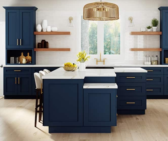 Home Decorators Collection Neptune Mythic Blue Cabinets