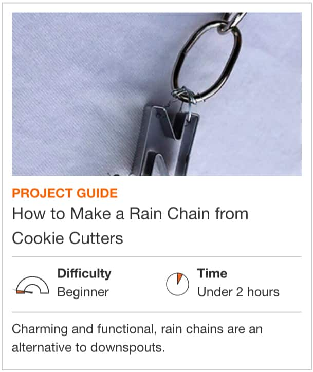 How to Make a Rain Chain from Cookie Cutters