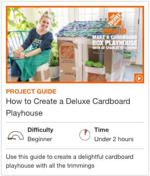 How to Create a Deluxe Cardboard Playhouse