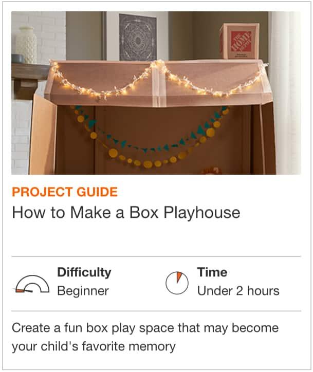 How to Make a Box Playhouse