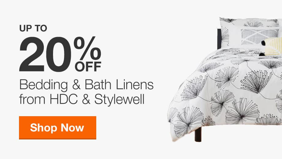 Up to 20% off Exclusive Bedding & Bath Linens from Home Decorators Collection & Stylewell