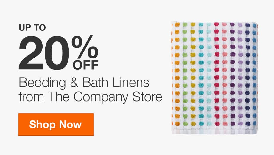 Up to 20% Off Select Bedding & Bath Linens from The Company Store