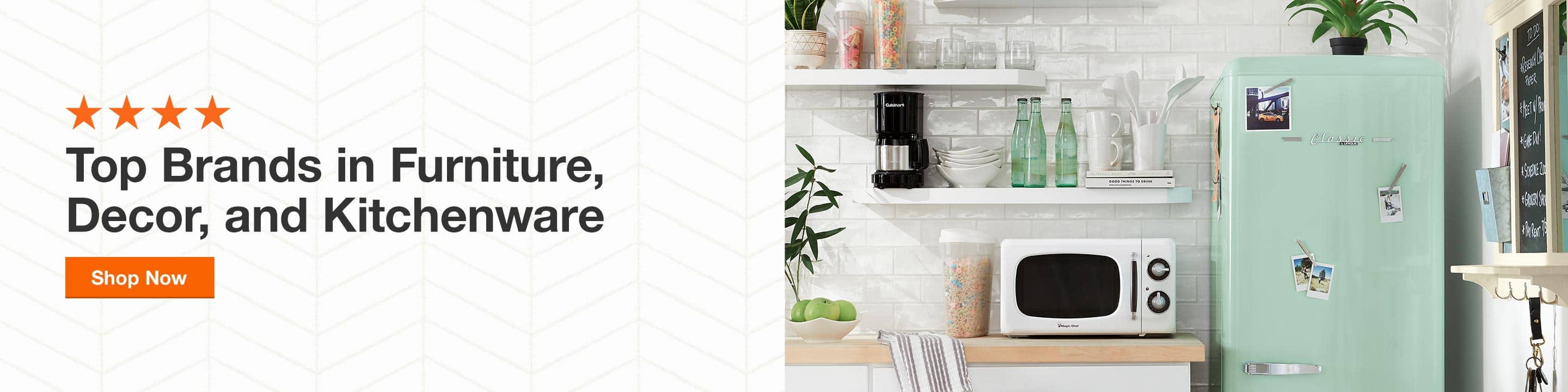 Shop Home Depot's Top Brands in Furniture, Decor, and Kitchenware