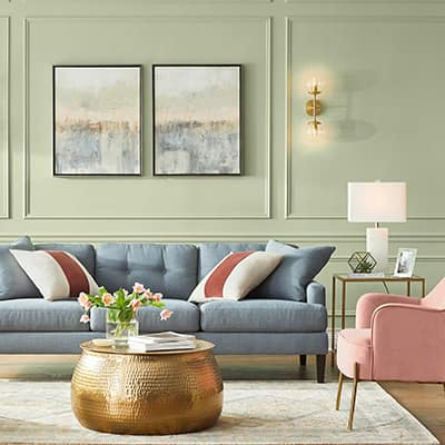 Captivating Color Living Room