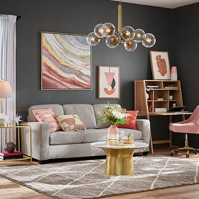Glam Gold Living Room